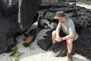 Sean chatting to sea lions