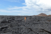 Cami on the lava