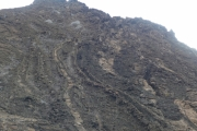 Check out the lava tubes going down the mountain