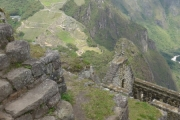 Heading down Wayna Pichu